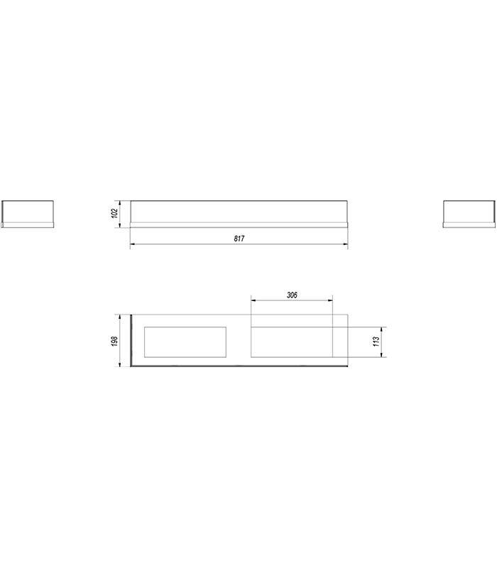 KRATKI DELTA/L/900/SZYBA bal oldalas biokandalló üveg