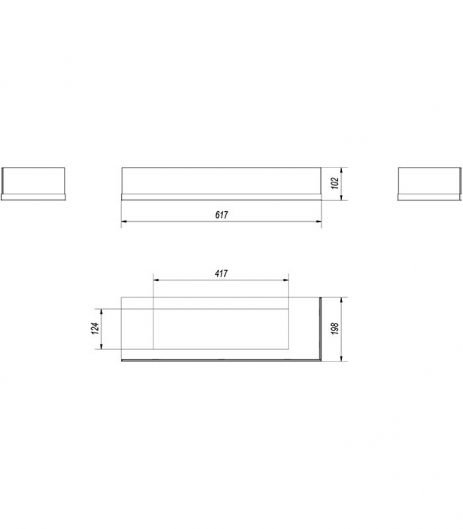 KRATKI DELTA/P/700/SZYBA jobb oldalas biokandalló üveg
