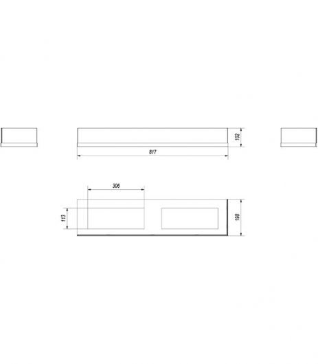 KRATKI DELTA/P/900/SZYBA jobb oldalas biokandalló üveg